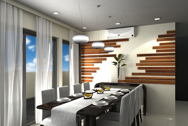 Delightful dining rooms with wooden wall panels home