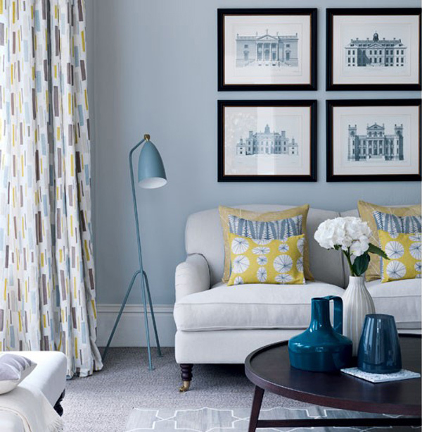 20 Charming Blue And Yellow Living Room Design Ideas: A Collection Of 16 Charming Living Room Curtains