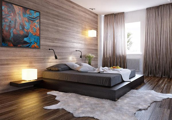 Wooden Bedroom Visualization