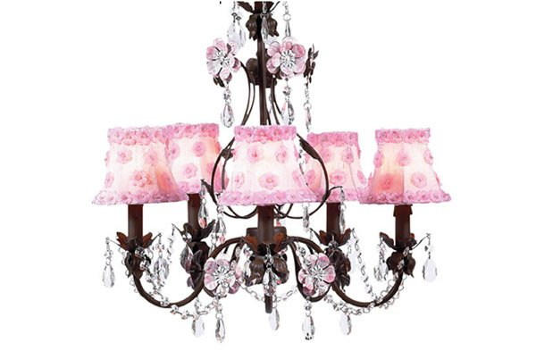 Pink bedroom Chandeliers