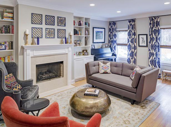 15 Lovely and Stylish Living Room Fireplaces Home Design Lover