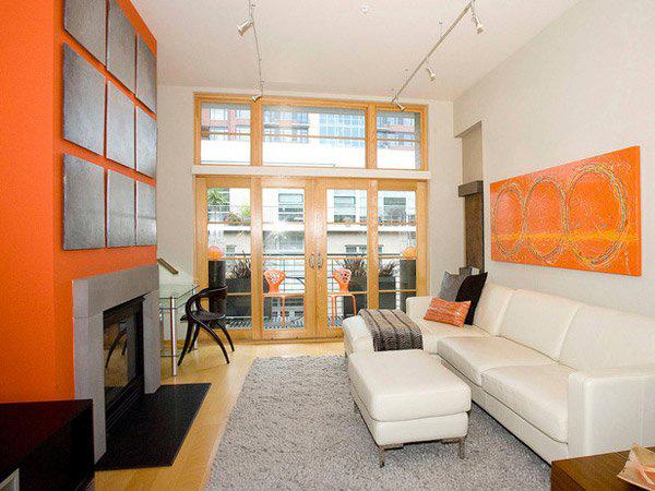 15 close to fruity orange living room designs home design lover