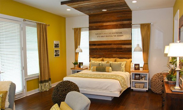 Rustic Retreat Wooden Bedroom Panel