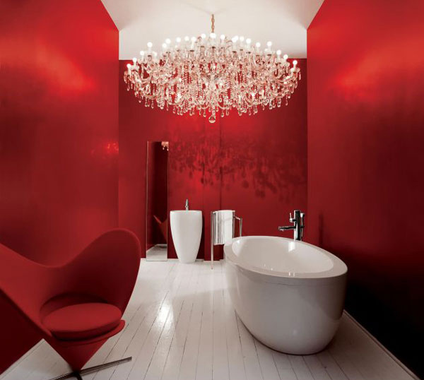 red bath painting