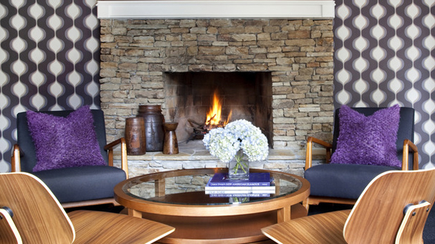 Lovely And Stylish Living Room Fireplaces Home Design Lover - Living room with fireplace
