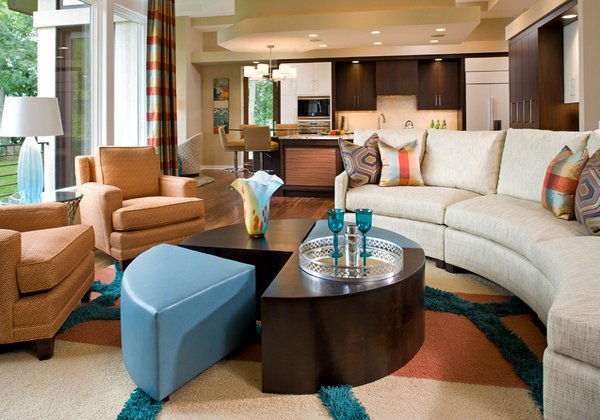15 stunning living room designs with brown blue and orange accents