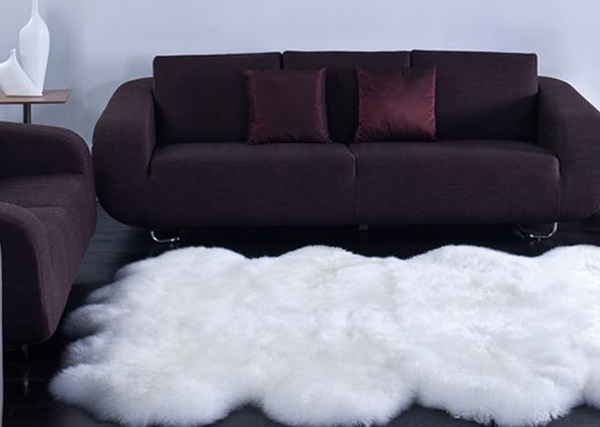 Sheepskin Wool Eight Pelt Shag Rug