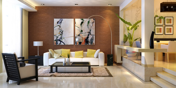 Mix different furniture sizes and styles