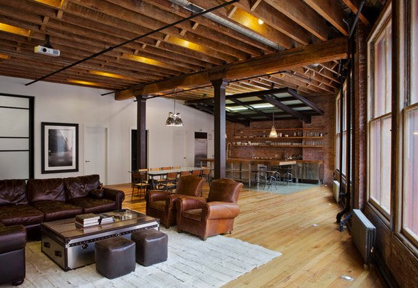 15 industrial living room designs that will leave you in for The family room main street