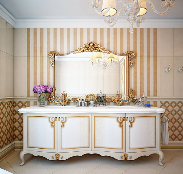 gold bathroom. Interior Design Ideas. Home Design Ideas