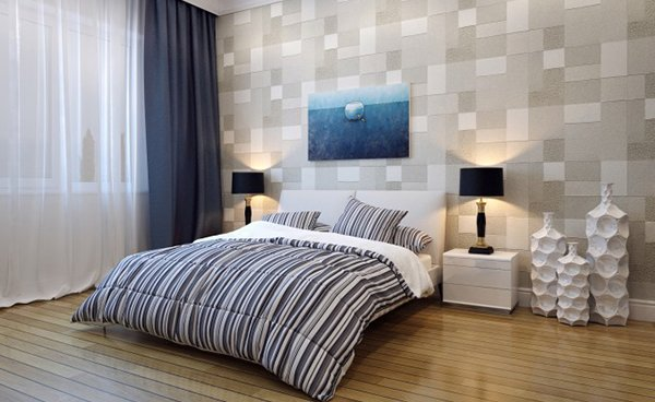 squares accent wall