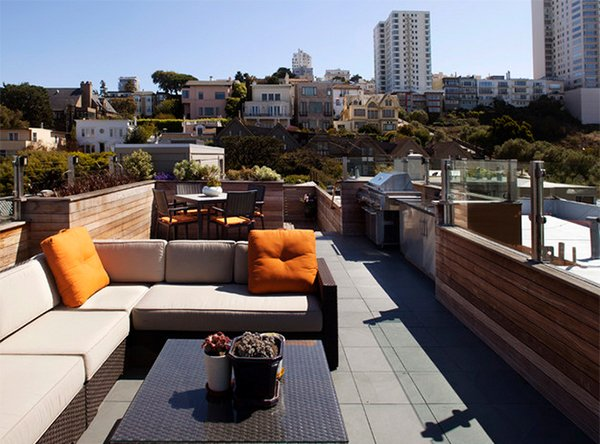 15 modern and contemporary rooftop terrace designs home design lover - How to build an outdoor kitchen a practical terrace ...