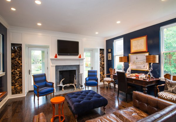 Designing And Decorating The Orange Living Room For The: 15 Stunning Living Room Designs With Brown, Blue And