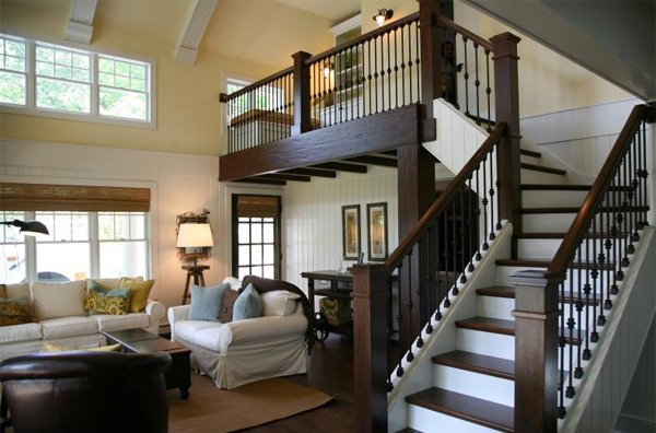 15 residential staircase design ideas home design lover. Black Bedroom Furniture Sets. Home Design Ideas