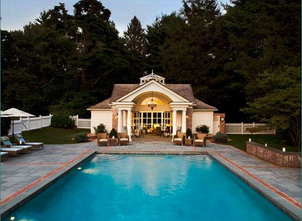 Clapboard Pool House
