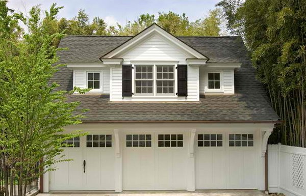 20 traditional architecture inspired detached garages for Three car detached garage plans