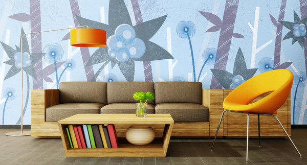 15 living room with floral wallpapers | home design lover
