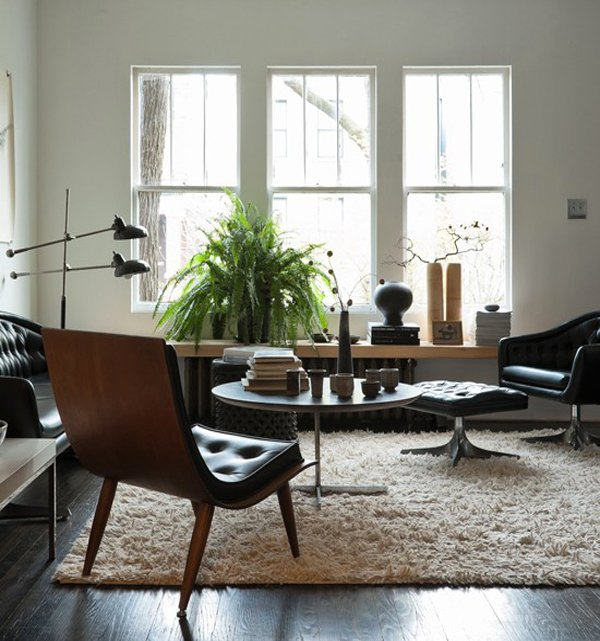 Midcentury Living Room: 15 Homey Rustic Living Room Designs