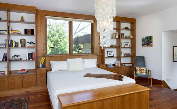 The unique chestnut hill residence in brookline for Bedroom showcase designs