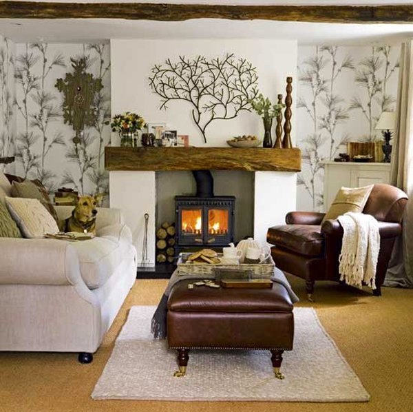 15 homey rustic living room designs home design lover for Living room ideas laura ashley