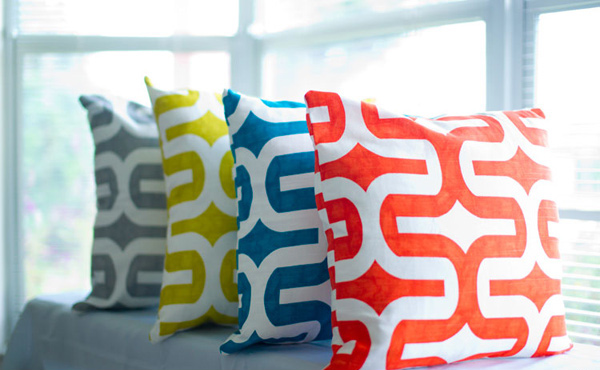 Multi Modern Geometric Dorm Room Pillows