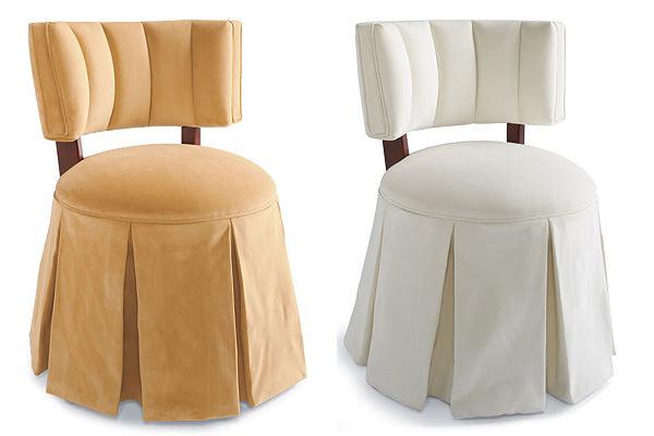 skirted vanity chair