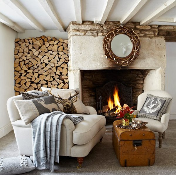 15 homey rustic living room designs home design lover - Rustic chic living room ...