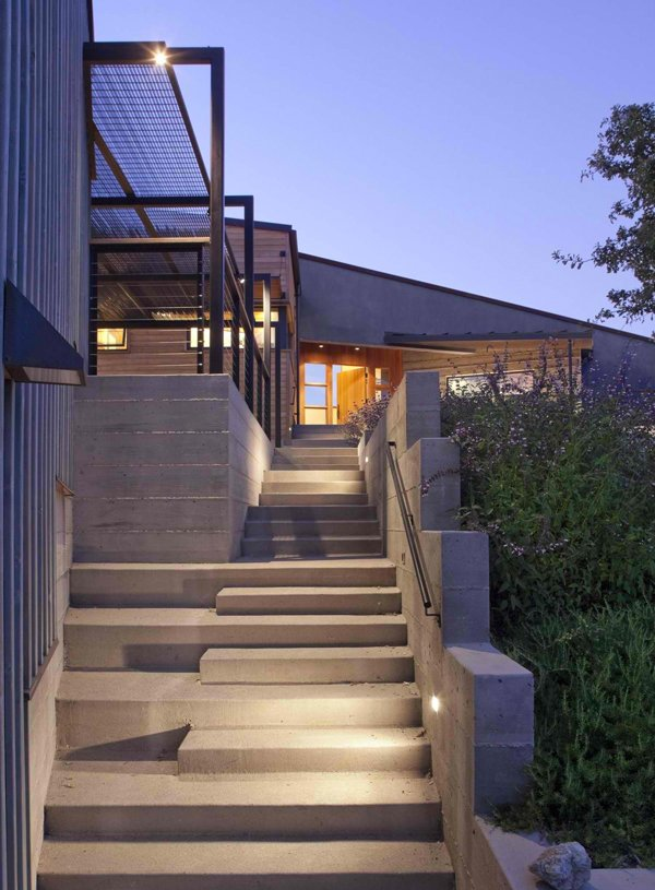 15 concrete exterior staircase design home design lover - Home entrance stairs design ...
