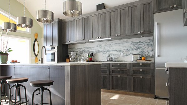 Grey Kitchen Cabinets 15 warm and grey kitchen cabinets | home design lover