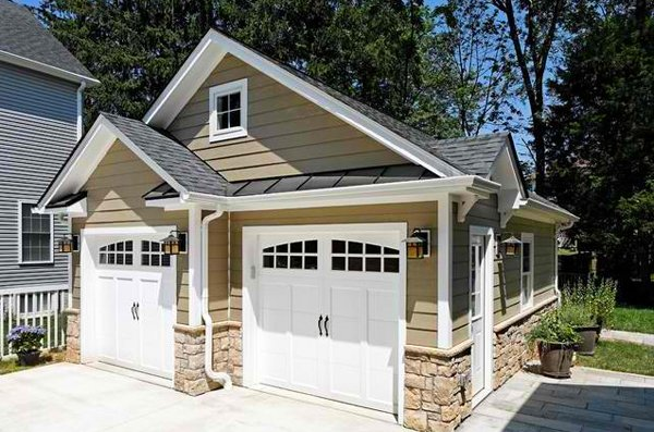 20 traditional architecture inspired detached garages for Two car garage shed