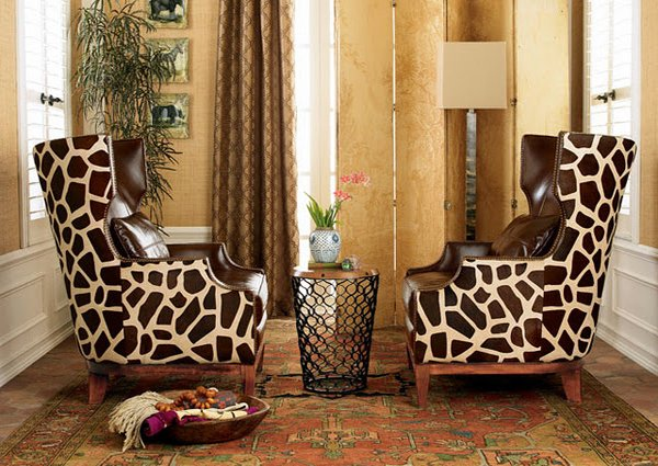 15 art deco inspired living room designs home design lover for Animal print furniture home decor