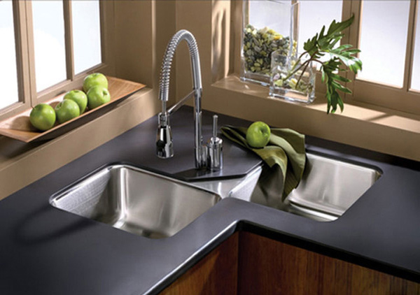 Kitchen Design With Corner Sink : 15 Cool Corner Kitchen Sink Designs Home Design Lover