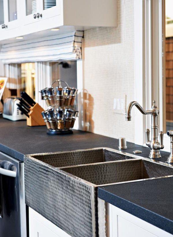 transitional kitchen sink