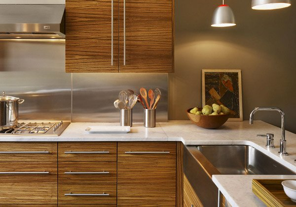 15 designs of modern kitchen cabinets home design lover for Modern wood kitchen cabinets