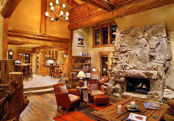 To Add To The Cozy Log Cabin Feel Of This Mountain Hybrid Log Home