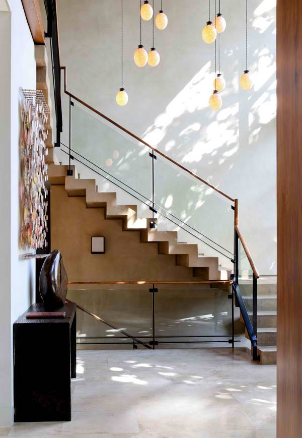 15 concrete interior staircase designs home design lover for Interior staircase designs