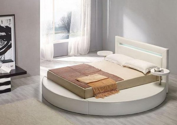 15 fashionable round platform beds home design lover for Round bed design