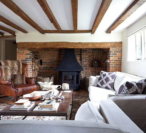 Homey Living Room 15 homey rustic living room designs | home design lover