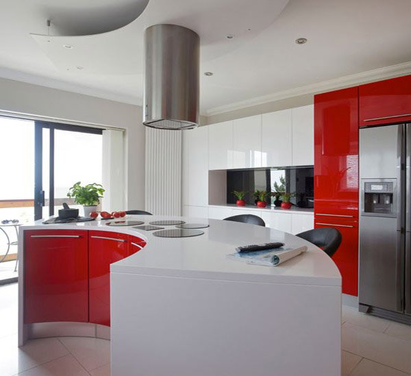 15 extremely hot red kitchen cabinets home design lover Modular kitchen designs red white