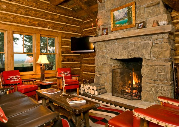 Living Room Decorating Ideas Log Cabin 15 homey rustic living room designs | home design lover
