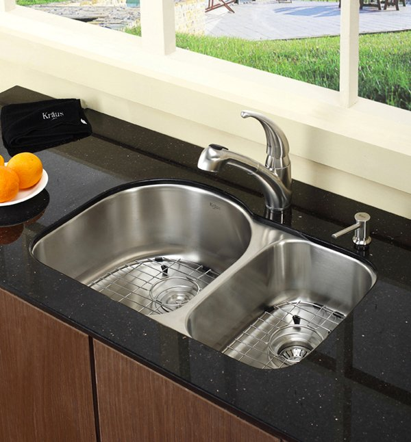 Double Sinks For Kitchen : 15 Functional Double Basin Kitchen Sink Home Design Lover