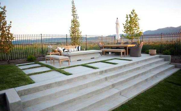 Cement Backyard Design : 15 Concrete Exterior Staircase Design  Home Design Lover