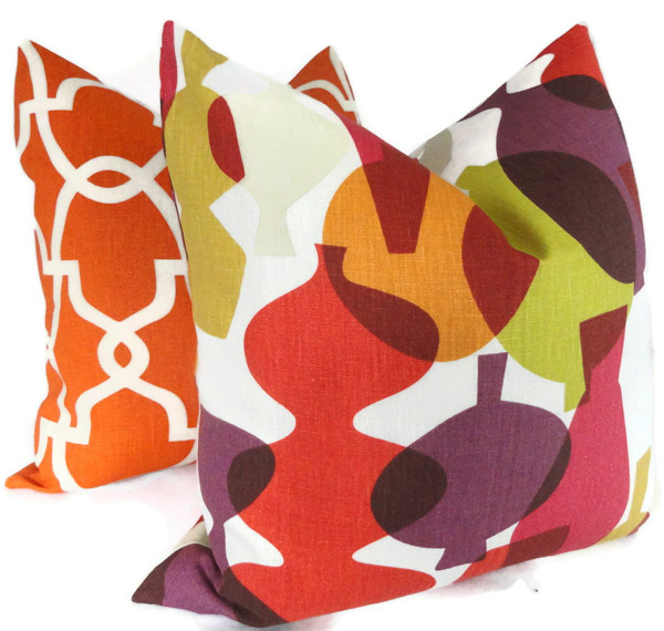 Colorful Vases Pillow Cover