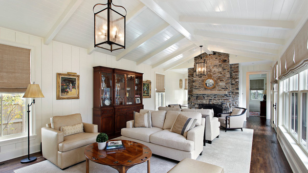 design ideas for living rooms with vaulted ceilings