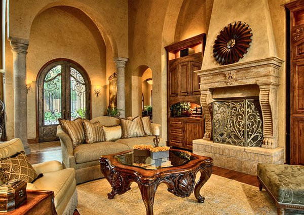 15 stunning tuscan living room designs home design lover for Living room austin