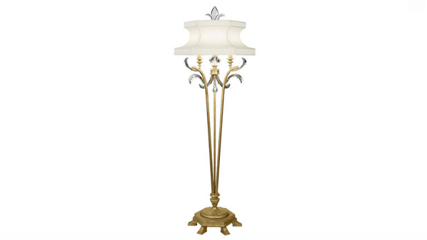 Beveled Arcs Gold Floor Lamp