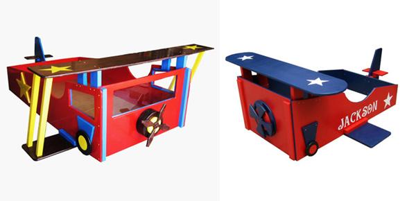 15 transportation themed toddler beds home design lover for Airplane bed frame