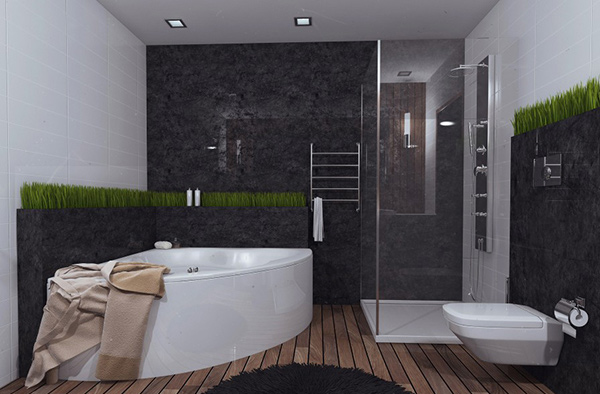 Contemporary Bathroom Green