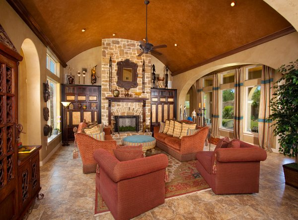 15 stunning tuscan living room designs home design lover for Tuscan design