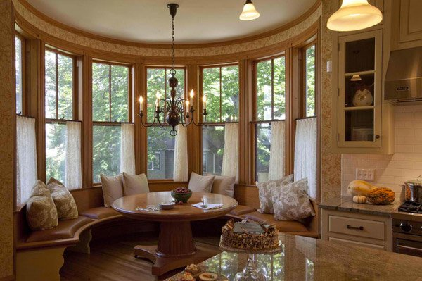 15 bay window ideas for inspiration home design lover - Decorating bay window area ...